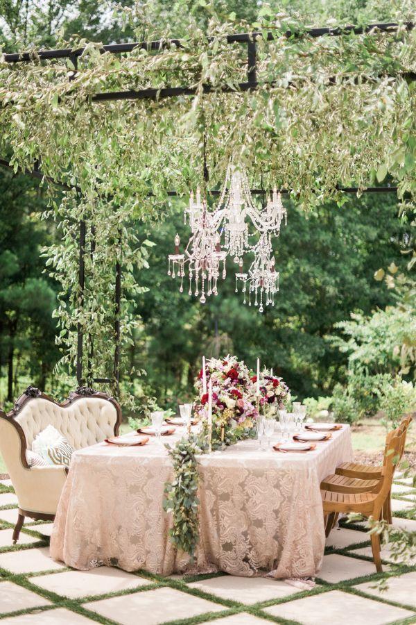 Elegant Champagne and Garnet Wedding | photography by http://www.ajdunlap.com/