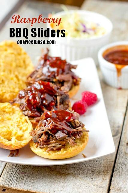 Bbq Sauces, Beef Recipe, Bbq Beef, Bbq Sliders, Raspberries Bbq, Beef ...
