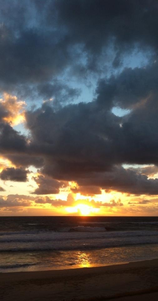 Sunrise at Main Beach, Gold Coast, Queensland, Australia