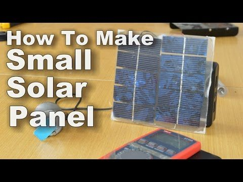 Check out this Solar Panels post we just posted at http://greenenergy.solar-san-antonio.com/solar-energy/solar-panels/how-to-make-small-solar-panel/