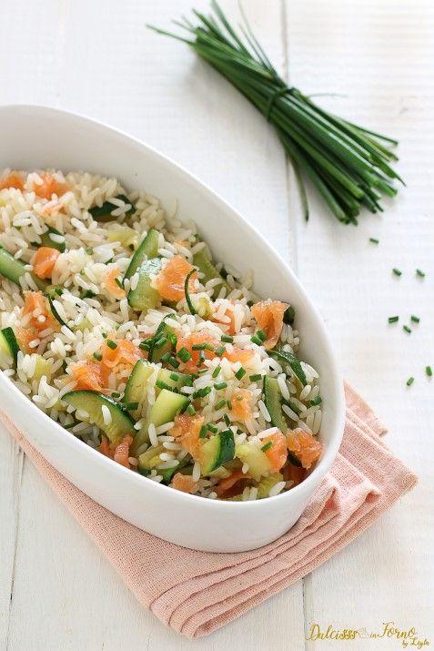 Riso freddo salmone e zucchine, insalata di riso veloce ricetta Dulcisss in forno by Leyla