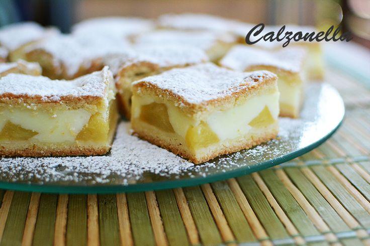 Uśmiech teściowej - kruche ciasto z jabłkami i budyniem