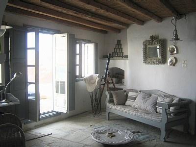 greek interior, cool greys