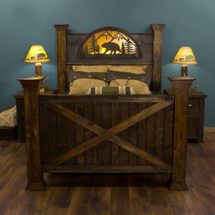 40 best barnboard beds images on pinterest rustic for Rustic bear home decor