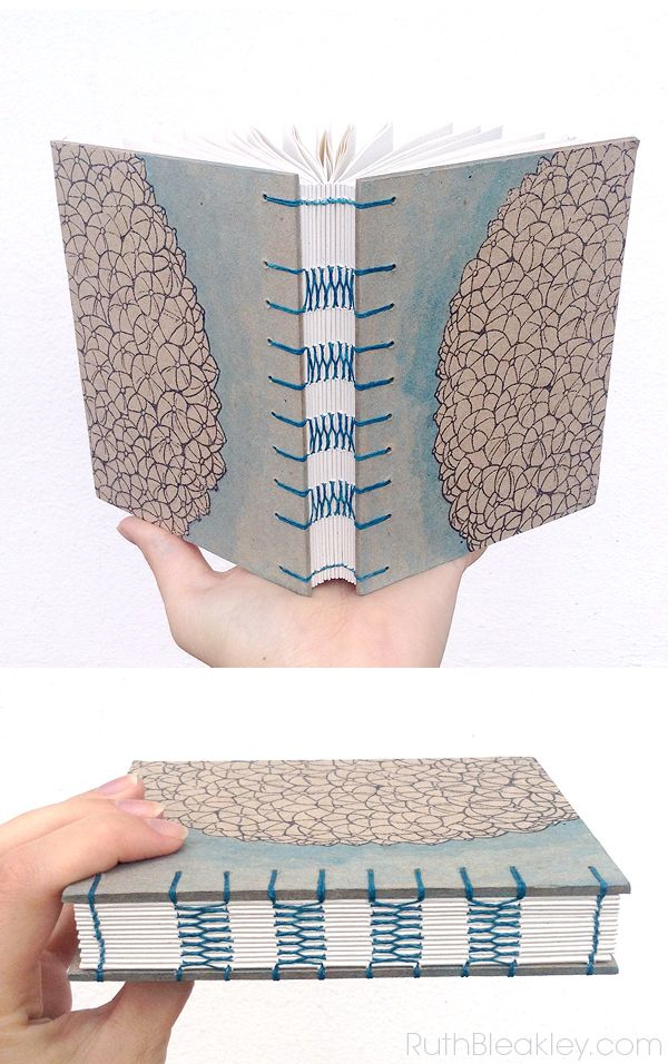 Watercolor French Link Stitch Journal - The Barnacle Book « In the Studio with Ruth Bleakley