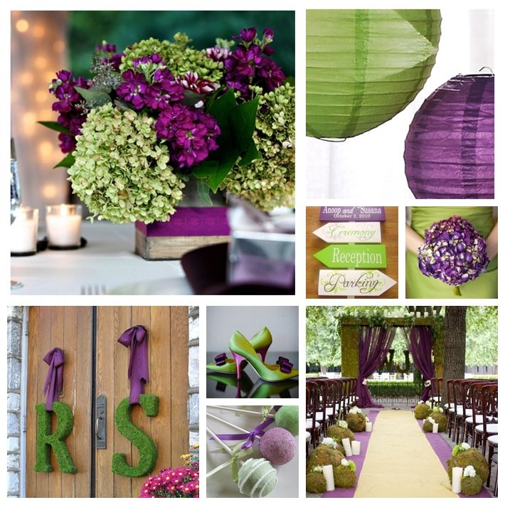 Purple and Moss Green Wedding Inspiration