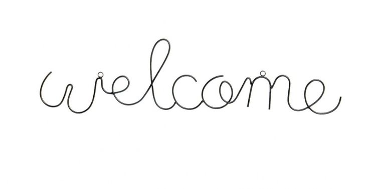 Welcome - metalen letters zwart
