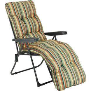 Buy Multi-Position Sun Lounger with Cushion - Striped at Argos.co.uk, visit Argos.co.uk to shop online for Garden chairs and sun loungers