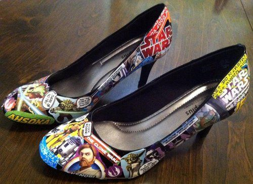 DIY: decoupage heels