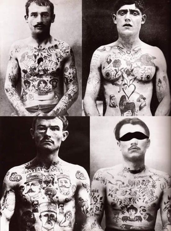 Retro Russian Tattoos.
