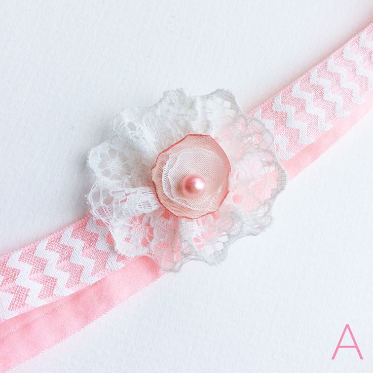 More baby headbands listed today! Salmon pink, baby pink and ivory