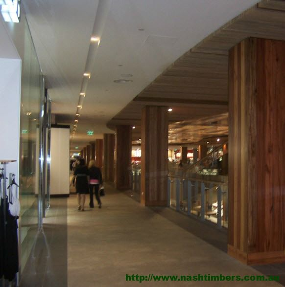 Nash Timbers Recycled Panels Wollongong Shopping Centre Sourced from Power Poles