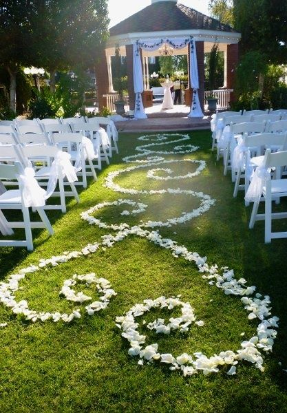 As long as its not windy, this would be the perfect isle decor, simple yet elegant. love it!