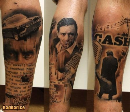 hurt johnny cash tattoos - Google Search