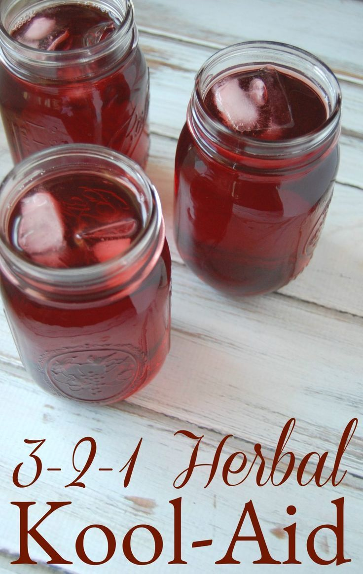 3-2-1 Herbal Tea - A Homemade Kool-Aid Alternative - Say goodbye to toxic filled koolaid and hello to this beneficial herbal alternative!