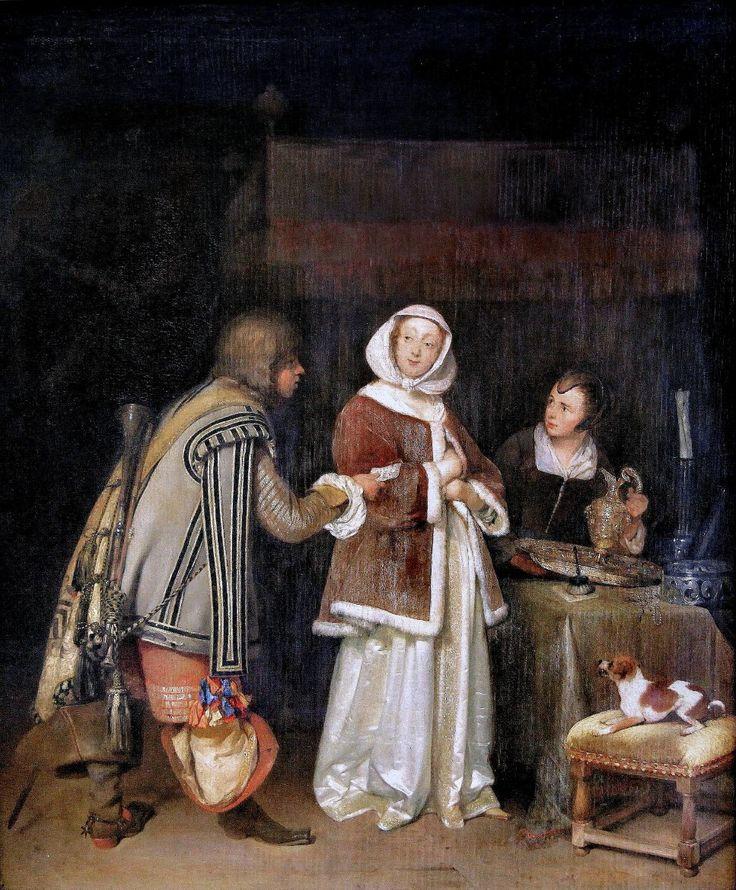 Герард Терборх (Gerard Terborch, 1617-1681, Dutch artist). Письмо Munich Alte Pinakotek