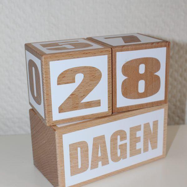 Stoere houten mijlpaalblokken XL, aftelblokken