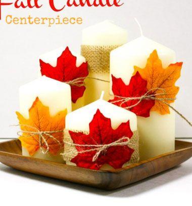 Easy and quick DIY fall centerpiece with leaves and burlap // Egyszerű és gyors őszi asztaldísz falevelekkel és juta anyaggal // Mindy - craft & DIY tutorial collection
