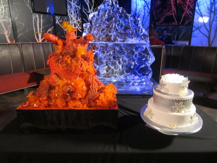 The Fire And Ice Cakes That Buddy And Ashley Made For