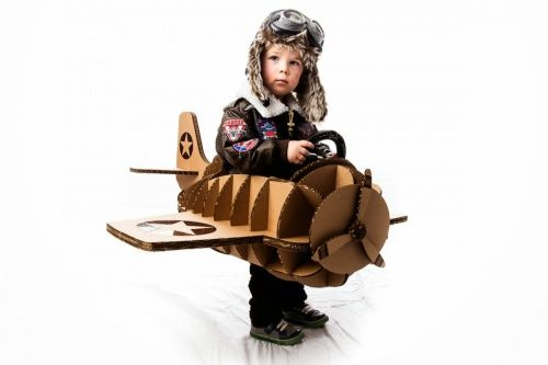 Your Halloween Costume May Be Cool, But It's Not Laser-Cut Cardboard Vintage Airplane Cool