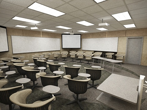 classroom. This classroom setting will support nursing learning education. The educator will be able to see all the students