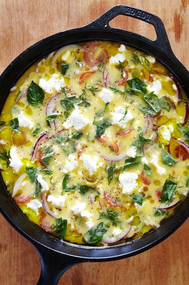 Heirloom Frittata | Morning Meals | Photo by  Julia Gartland of Sassy Kitchen for Camille Styles
