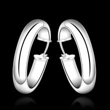 wholesale 925 sterling silver earrings,925 silver fashion jewelry bright circle hoop Earrings for women SE595(China (Mainland))