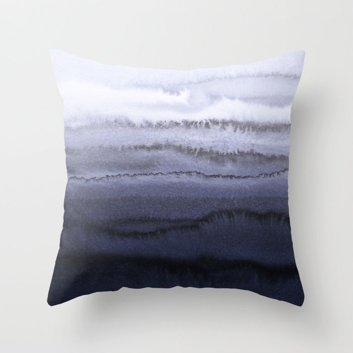 CRASHING WAVES - WITHIN THE TIDES Throw Pillow by Monika Strigel