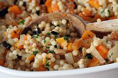 Israeli couscus with butternut squash and preserved lemons; It's a Winner recipe!
