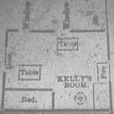 The interior of 13 Millers Court, where Mary Jane Kelly was murdered.