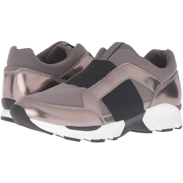 GUESS Padden (Pewter) Women's Slip on  Shoes ($40) ❤ liked on Polyvore featuring shoes, pewter, fleece-lined shoes, slip on shoes, pewter shoes, slip-on shoes and synthetic shoes