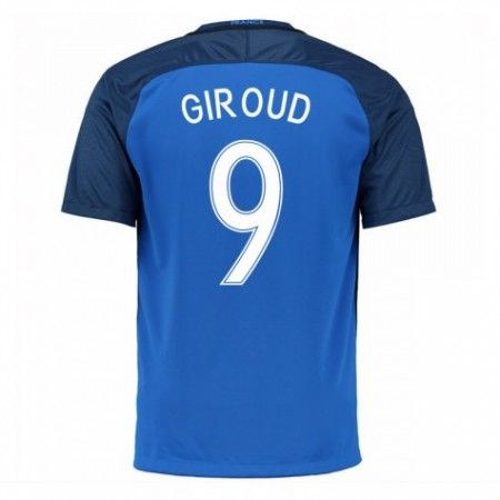 Frankrike 2016 Olivier Giroud 9 Hjemmedrakt Kortermet.  http://www.fotballpanett.com/frankrike-2016-olivier-giroud-9-hjemmedrakt-kortermet-1.  #fotballdrakter
