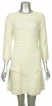 Sutton Studio Ivory Wool Crochet Knit Sweater Dress Misses