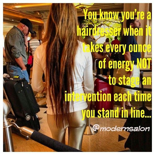 NO to stringy hair! Trim every 4-6 weeks ladies #Hairdresser problems