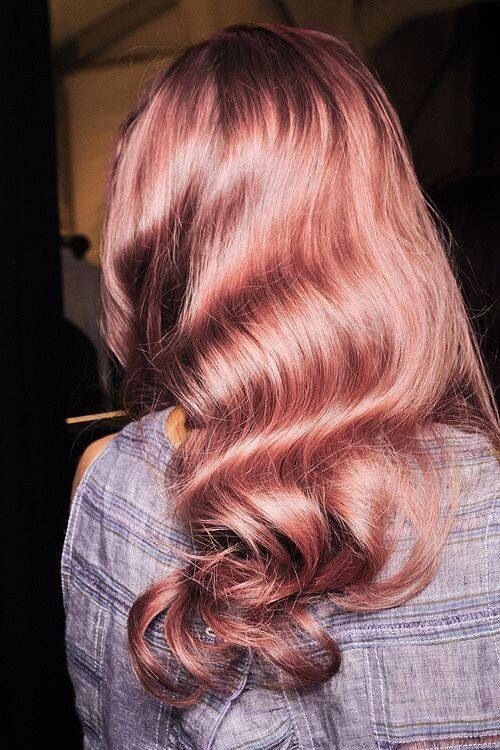 Rose gold tresses. How dreamy! #hair #beauty