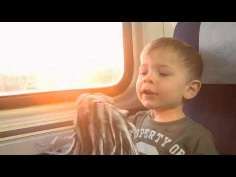 Future Spartan and Spartan Line passenger Julian, sings the MSU fight song
