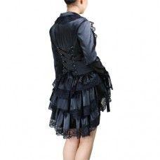 Gothic Victorian Punk Corset Satin Jacket. www.nixdungeon.co.nz