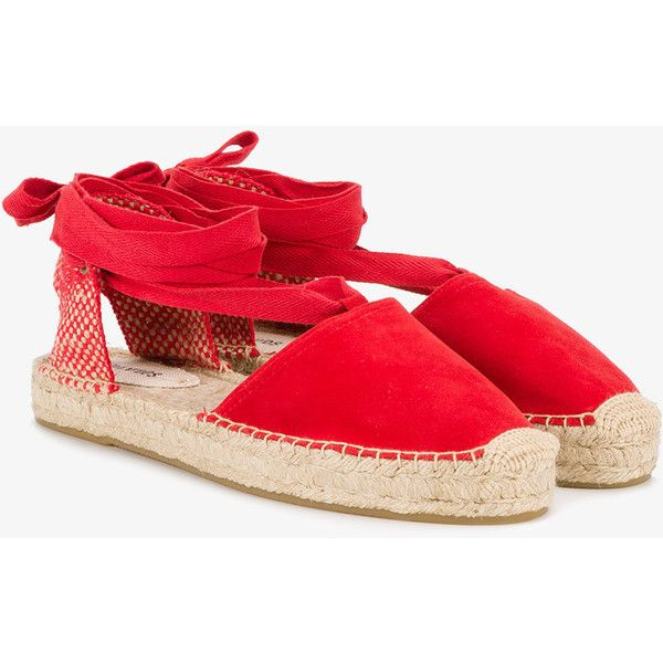 Soludos Red Suede Espadrilles (1.237.040 IDR) ❤ liked on Polyvore featuring shoes, sandals, red, espadrille shoes, soludos espadrilles, suede espadrilles, suede leather shoes and red shoes
