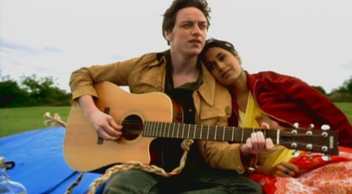 James McAvoy as Jay with Preeya Kalidas in Bollywood Queen (2002)