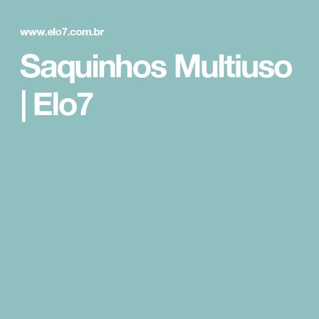 Saquinhos Multiuso | Elo7