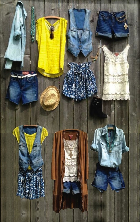 Summer-Essentials - I'm not crazy about the shorts or short skirt, but I like the various layer ideas
