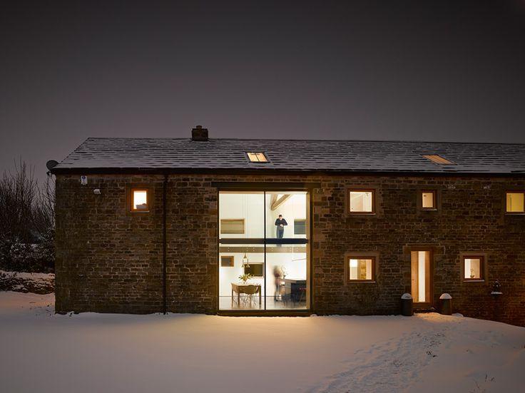 16th-Century Barn Transforms Into a Contemporary Retreat - http://freshome.com/16th-century-barn-contemporary-retreat/