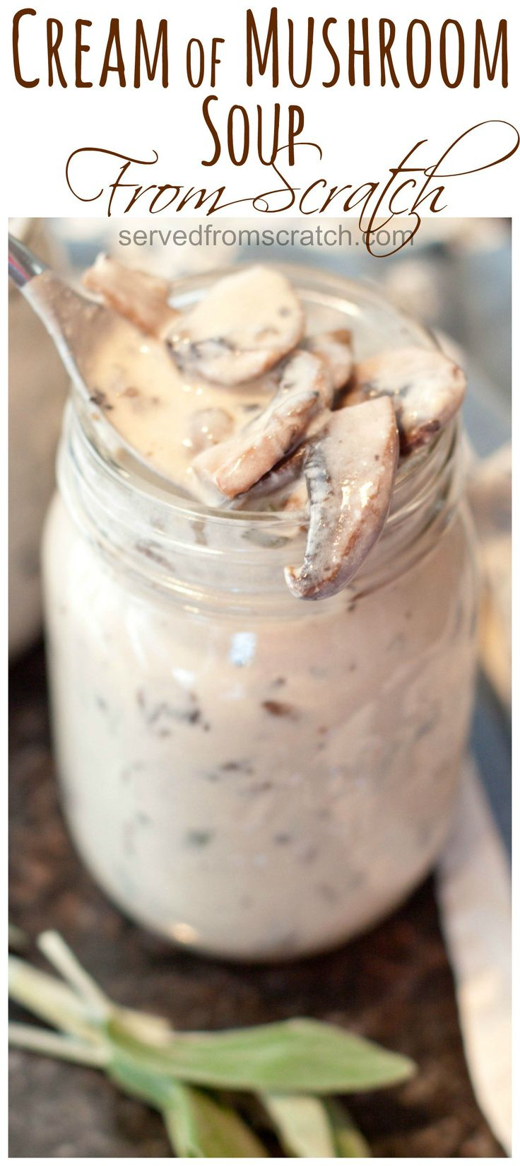 Ditch the can! Make your own Cream of Mushroom Soup from scratch!