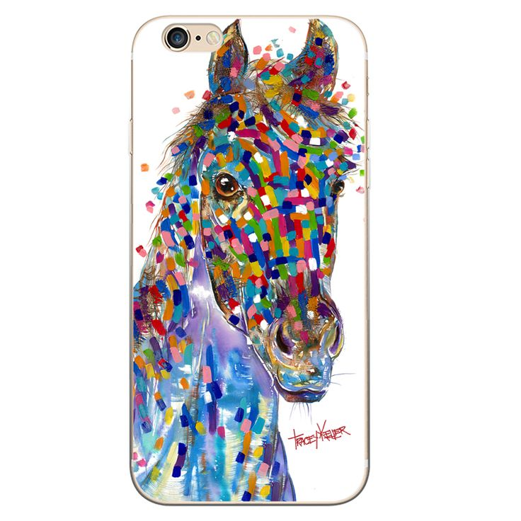 Horse Blue iPhone Case