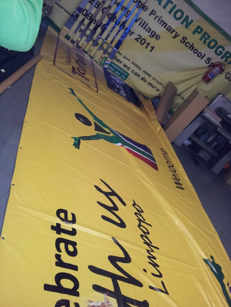 We design and print banners in 12-24Hrs. We are Johannesburg based and we deliver our products regionally and nationwide.Check out Http://www.faceprint.co.za and Http://www.pullupbanners.co.za