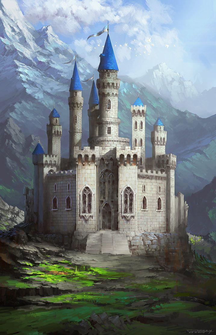 landscapes castles fantasy art - photo #46