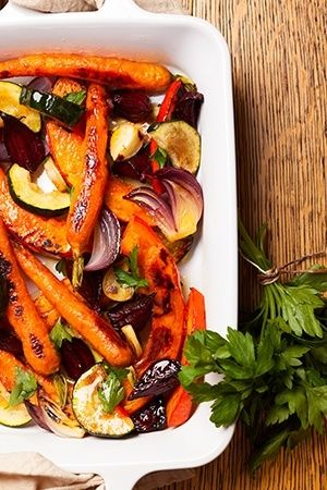 Spa Cuisine #Recipe: Roasted Vegetables with Miso-Lime Dressing