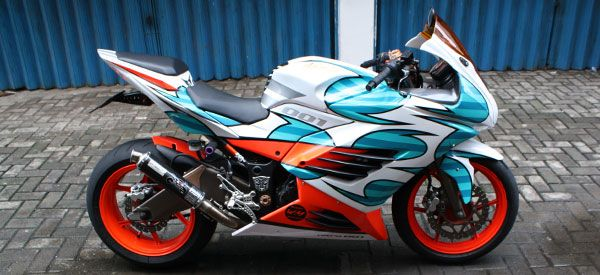 modifikasi new Ninja 250R