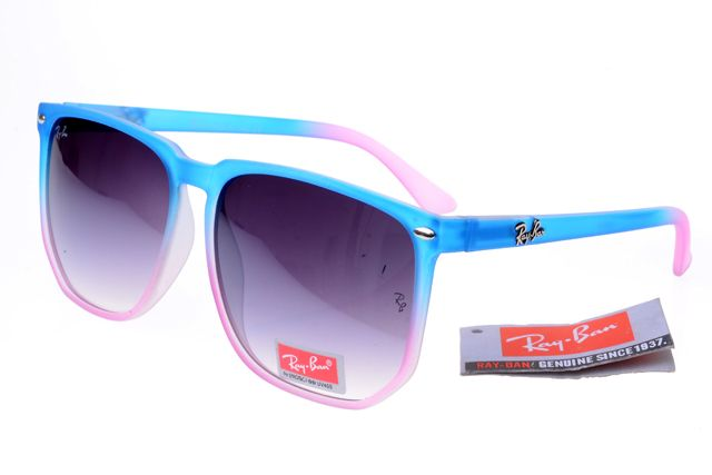 Ray-Ban Square 2143 Blue Pink Frame Gray Lens RB1116 [RB-1125]