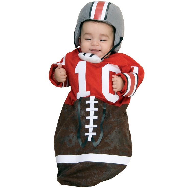 football red deluxe bunting infant costume - Infant Football Halloween Costume